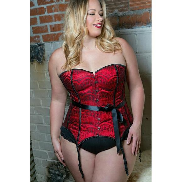 174535677d7c Adore Me Intimates & Sleepwear   Scarlet Plus Red Black Lace Corset ...